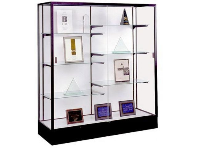 Colossus Floor Display Case W Plaque Fabric