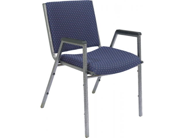 heavy duty stack arm chair w silvervein frame closeout