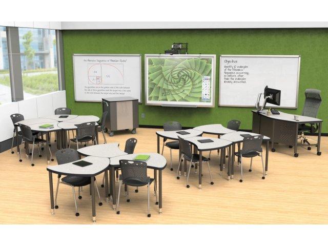"Balt Shapes Collaborative School Desk 36""x34"" BLT 1143"