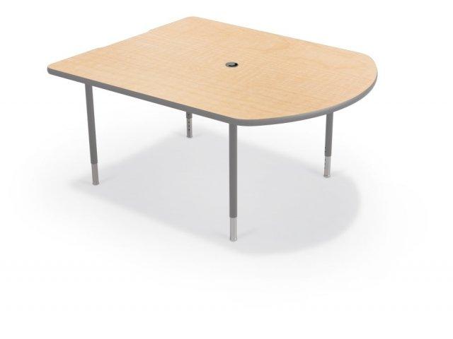 "Balt MediaSpace Table with Platinum Legs 48x60"" Classroom"