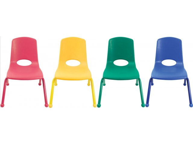 Ecr Poly Classroom Chair Colored Legs 12 H Preschool Chairs