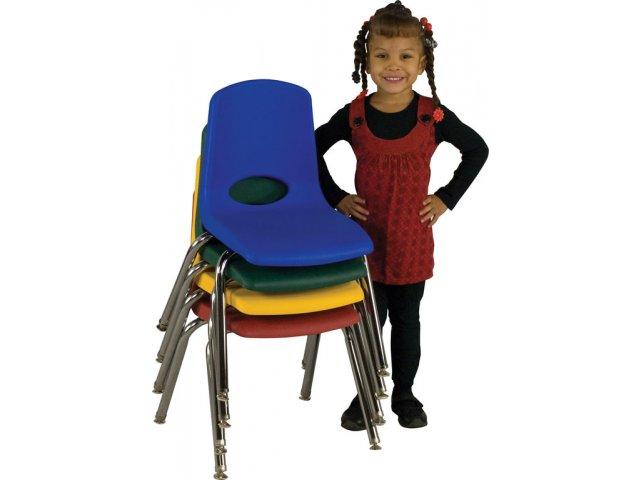 ECR Poly Classroom Chair Chrome Legs 12H Preschool Chairs