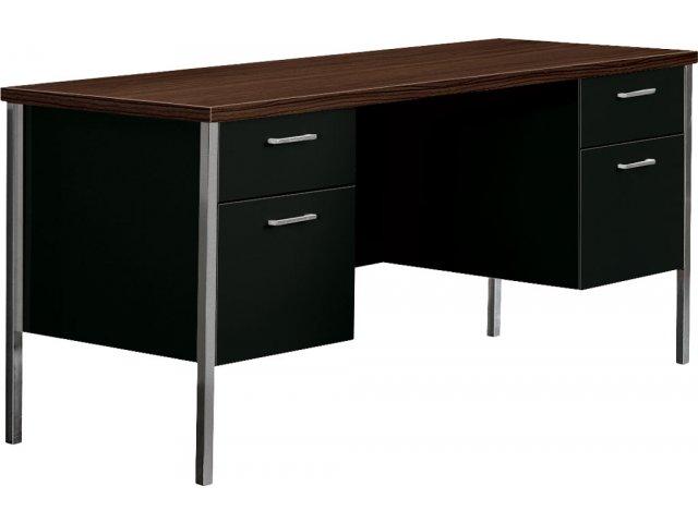"""Steel Double Pedestal Teachers Desk 60""""x24"""" Teacher Desks"""
