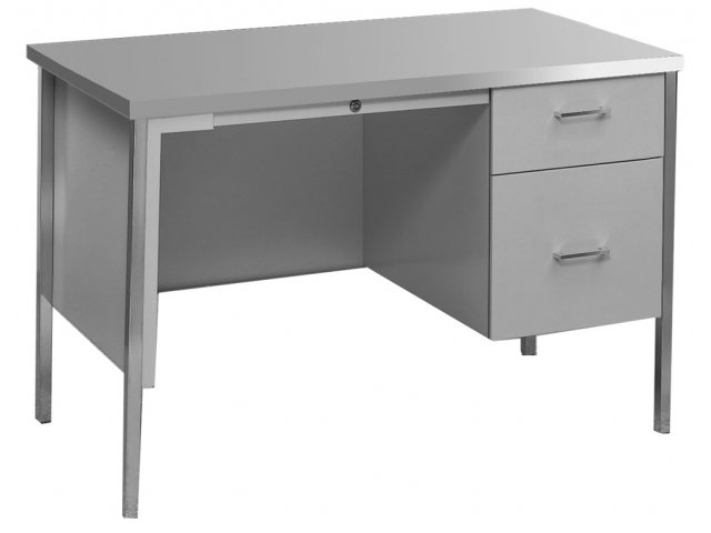Steel Single Pedestal Teachers Desk Ecd 24a Office Desks