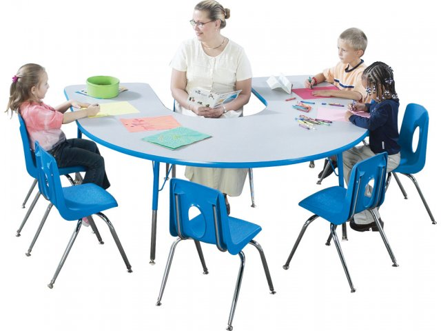 List Of Classroom Furnitures : Prima adjustable horseshoe activity table