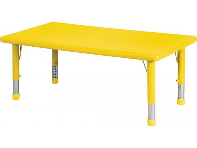 List Of Classroom Furnitures : Adjustable rectangle resin preschool table
