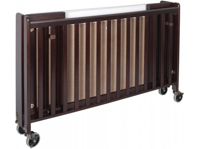 crib full mattress size mo fnd alt foldable folded w shown hideaway cribs daycare folding