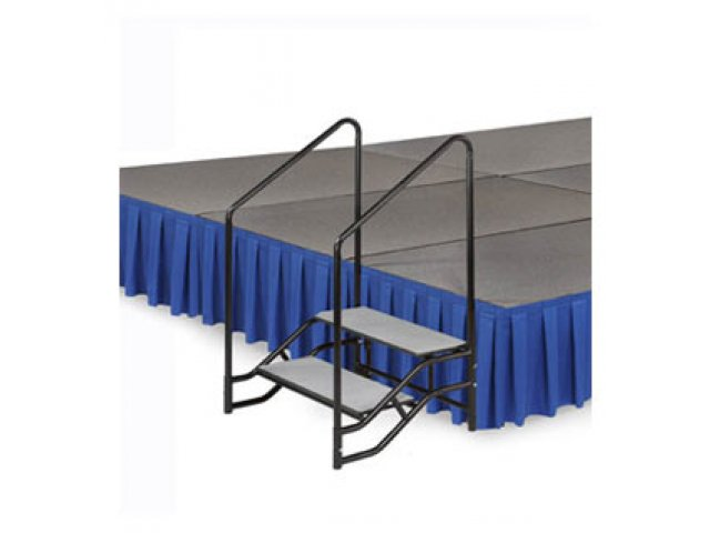 Portable Handrails For Steps Outside : Portable steps with handrails for h or mobile stage