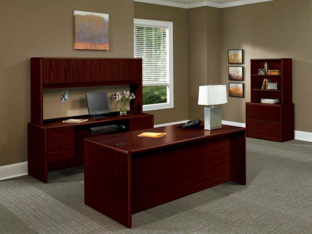 Hon Executive Conference Office Desk Mahogany Setting
