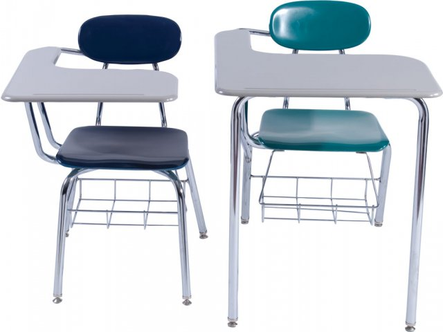 "Student Chair Desk - Hard Plastic Jumbo Top 16""H, Student ..."