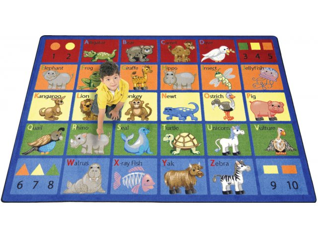 Animal Phonics Classroom Rug 10 9 Quot X13 2 Quot Abc Rugs