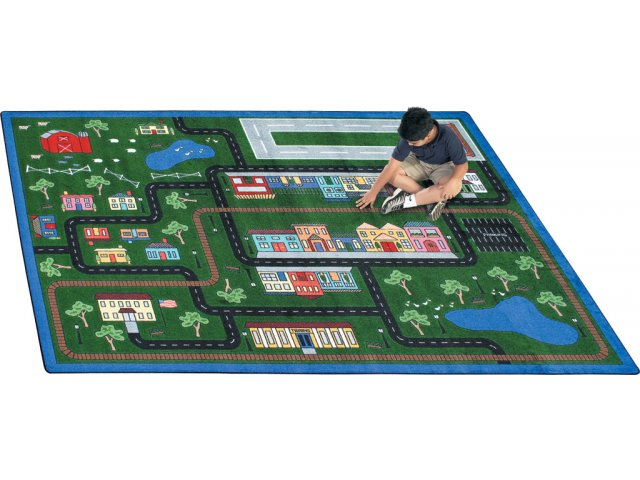 Tiny Town Rectangle Carpet 5 4 Quot X7 8 Quot Activity Amp Game Rugs