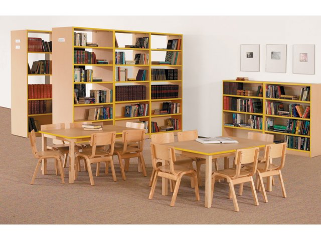 Educational Edge Natural Wood School Chair 18 H Library