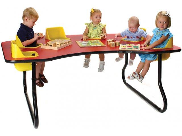 Six Seater Kidney-Shaped Toddler Table KTT-116T