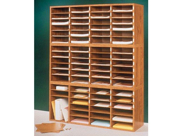 24 Compartment Literature Organizer Mlo 304 Paper Storage