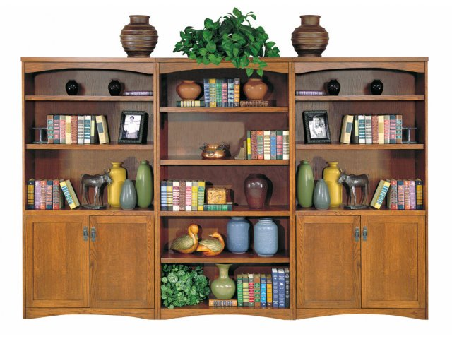 Mission Bookcase without Doors 36quot;Wx70quot;H, Office Bookcases