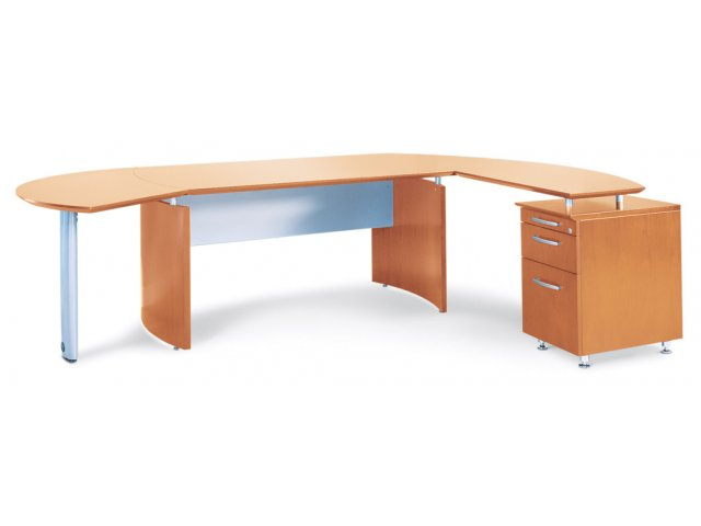 Napoli Curved Office Desk Return Right Nap 6324r Office