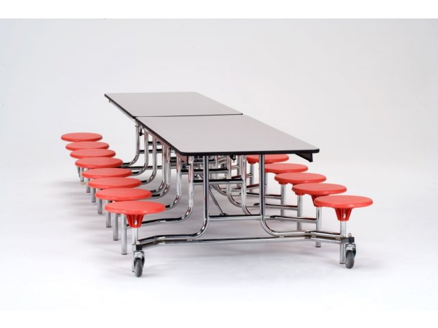 Cafeteria Table Chrome Plywood Protectedg 16 Stool 12