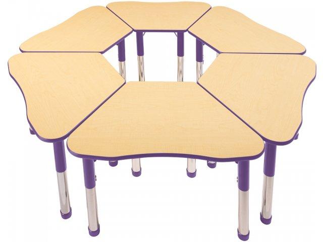 Collaborative Student Desks ~ Petal collaborative classroom desk laminate top colored