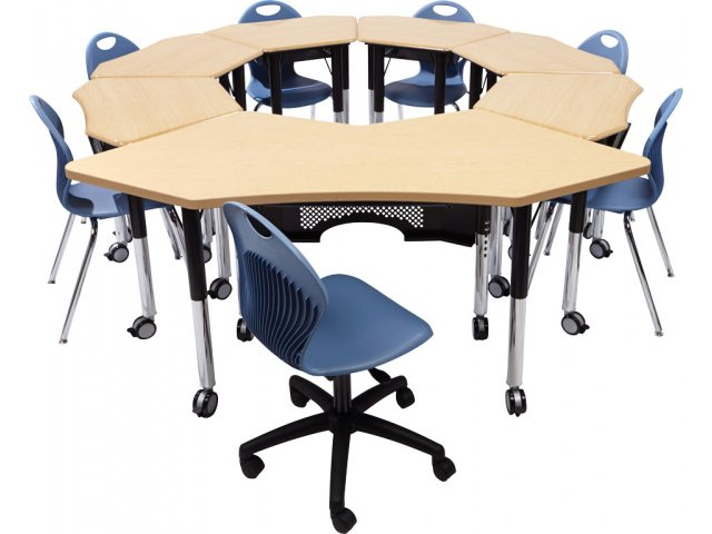 Collaborative Student Desks ~ Petal jr collaborative student desk hard plastic