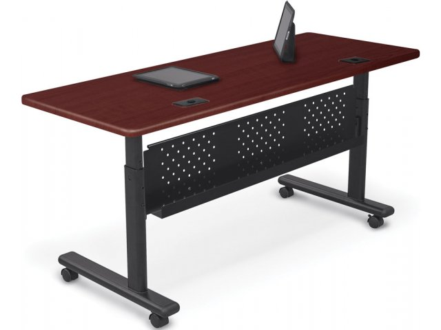 Adjustable Height Sit Stand Flipper Training Table 72x24