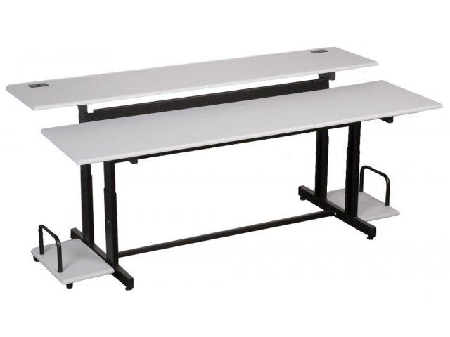Captivating Split Level Computer Table · Two Platforms Independently ...
