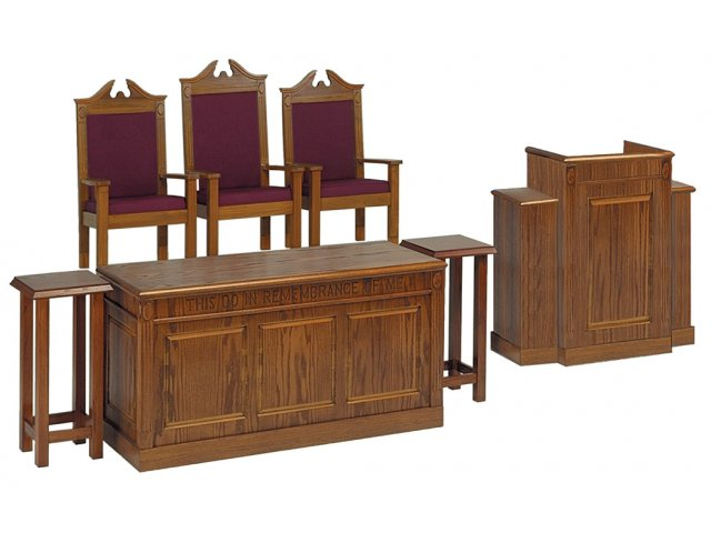 Communion Table Stained Tcf 106 Pulpit Furniture