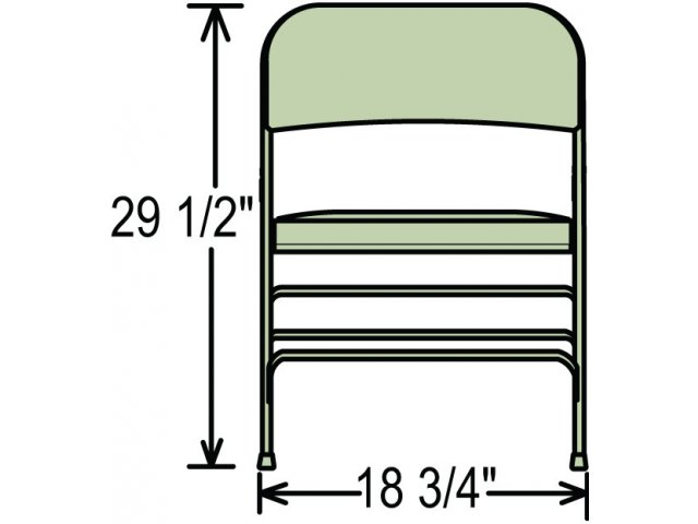 Premium Triple Brace Vinyl Folding Chair Fhc 1300 Banquet
