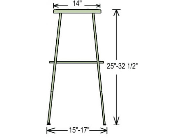 Nps Adjustable Metal Lab Stool 25 33 Quot H Stools
