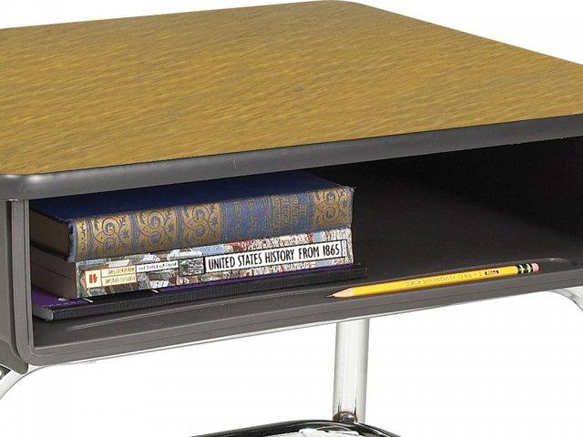 Adjustable Height Open Front School Desk Woodstone Top