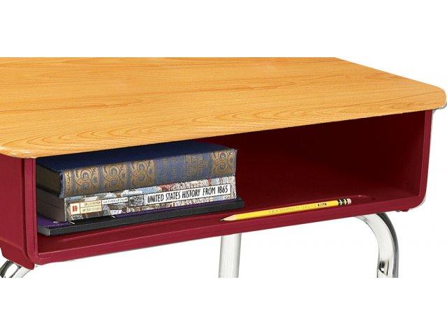 Ee2 Adjustable Height Open Front School Desk Woodstone