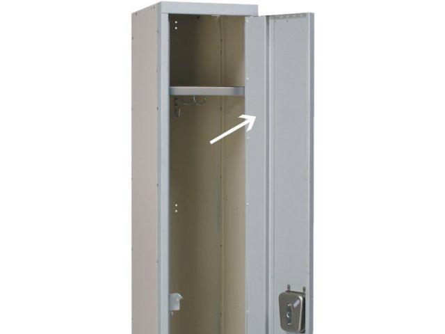 18-gauge full-height door stiffener welded to inner door creates .
