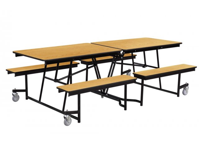 Pleasant Fixed Bench Mobile School Cafeteria Table 8 Machost Co Dining Chair Design Ideas Machostcouk