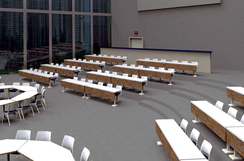 Single Pedestal Fixed Seating