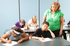 Teacher Monitors Standardized Test