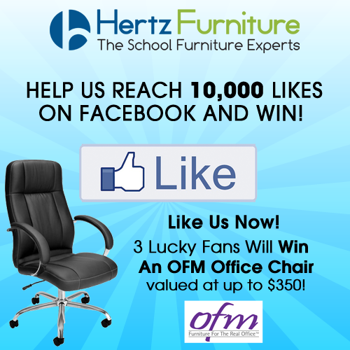 Newest Banner for 10Like Help Us Reach 10,000 Facebook Likes and Win an Office Chair from OFM!