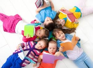 Literacy! Children reading together