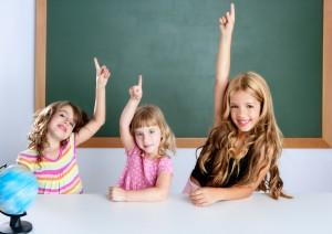 Girls in a single gender classroom