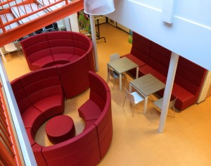 Learning Commons Furniture - Aerial View