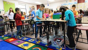 15 Elem Standing Desks 0047 300x170 5 Questions Every Teacher Should Be Asking About Classroom Furniture