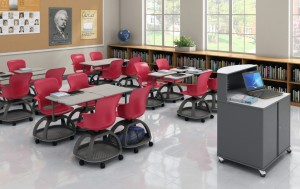 Flexible Classroom Furniture on Wheels